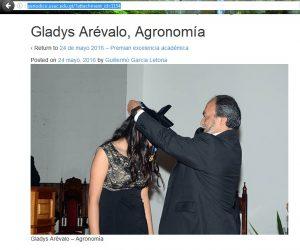 Gladys Arévalo Excelencia Académica