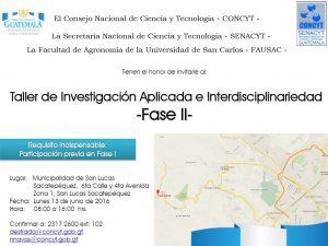 Invitación taller FONACY-CONCYT-IIA